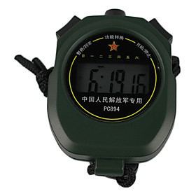 Dark Green Wearable Outdoor Stopwatch With Alarm Clock Function