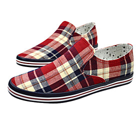 Fashion Chequer Leisure Canvas Men'S Shoes(Assorted Sizes and Colors)