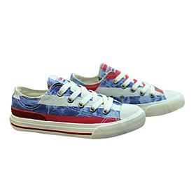 Jean Stripe Pattern Canvas Women'S Shoes(Assorted Sizes and Colors)