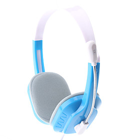 SW-690 High-Performance Blue Wired Stereo Headphone with Mic
