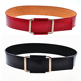 Women's Leather Basic Waist Belt(Fit Waist:95CM)