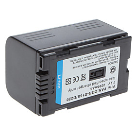 Digital Video Battery Replace Panasonic CGB-D16S/D220 for Panasonic CGR-D16S and More (7.2v, 2200 mA