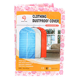 57x107cm Clothing Dustproof Cover Storage Bag (Random Color)