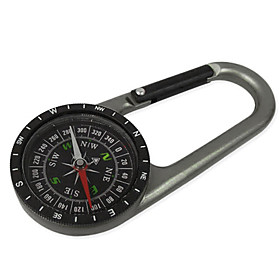 Thicken Multi-function Wearable Metal Hanging Buckle with Compass(Small Size,Random Color)