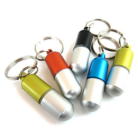 Mini Aluminum Alloy Waterproof/Sealed/Emergency Information Bottle(Random Color)