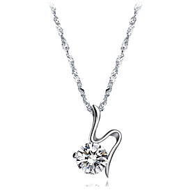 Fashionable Alloy Plating Platinum With Crystal Women's Necklace