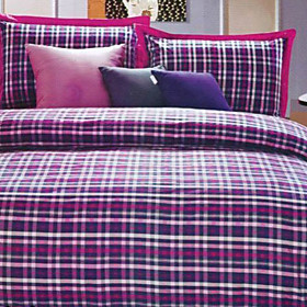 Zurich Plaid Twin / Queen / King 3-Piece Duvet Cover Set