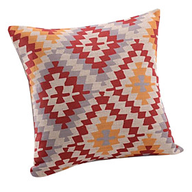 Traditional Pattern Cotton/Linen Decorative Pillow Cover