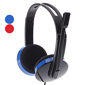 Y-678 3.5mm 2.2 metres Red/Blue Stereo Headphone with Mic
