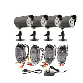 Day/Night Security Camera 4 Pack(4 Waterproof Outdoor Cameras)