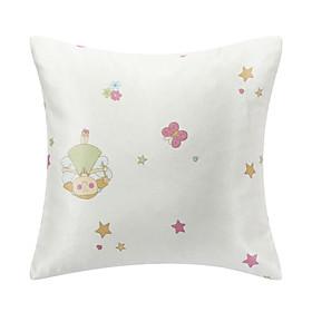 Lovely Cartoon Polyester Decorative Pillow Cover