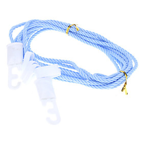 5m Clothesline Clothes Hanging String with 5 Hooks