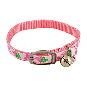 Strawberry Pattern Imitation Leather Button Collar with Little Bell for Dogs (Assorted Color)
