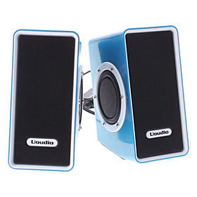 T50 Hi-Fi Deep Bass Blue Painting Wired Speaker with USB