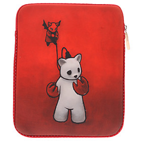 Bear Pattern Soft Pouches for iPad 2, the New iPad and Samsung Galaxy N8000