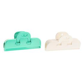 10cm Freshness Retain Bag Box Strong Clip (2-Pack, Random Color)