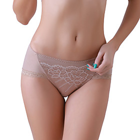 XZYD Almond Elegant Simple Flower Pattern Panties
