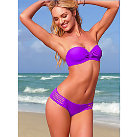 Women's Lovely Cut Out Tie Sexy Purple Swimwear