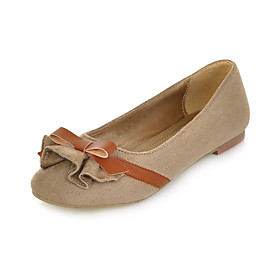 Suede Flat Heel Flats With Bowknot Party / Evening Shoes(More Colors)