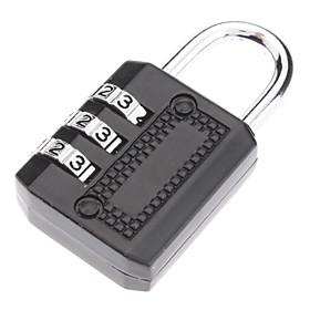 High Quality 3-Digit Luggage Combination Lock (Assorted Color)