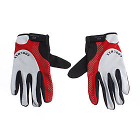 K2 Red Black Gray Nylon Comfortable/Breathable Full-finger Gloves for Cycling/Mountain Climbing