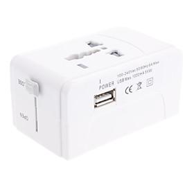 Universal Travel Power Plug Adapter with USB Port