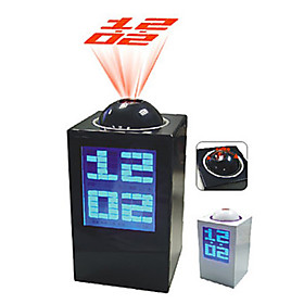3 LCD Blue Backlight Alarm Clock Calendar Thermometer with Time Projector (3xAA)