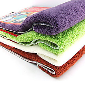 Kitchen Cleaning Textile Water Sucking Cloth Rag (Random Color)