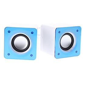 X300 Mini Super Bass Blue Wired USB Desktop Speaker with Mic