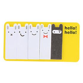 Lovely Rabbit Style Sticky Notes (5-Pack)