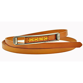 Women's Vintage Pin Buckle Leather Belt