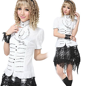 Puff Sleeve Cotton Aristocrat Lolita Blouse(2 Colors)