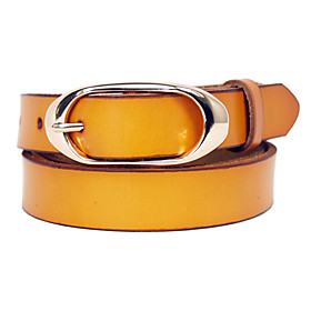 Women's Basic Pin Buckle Leather Belt