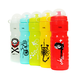 Colorful Plastic Portable Sports Bottle with Dustproof Cover