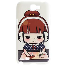 Cute Girl Pattern Hard Case for Samsung Galaxy Note 2 N7100