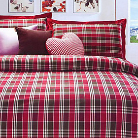 Porto Plaid Twin / Queen / King 3-Piece Duvet Cover Set
