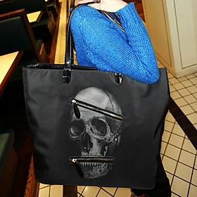 BLACK CAT Fashion Skull Pattern Tote Bag