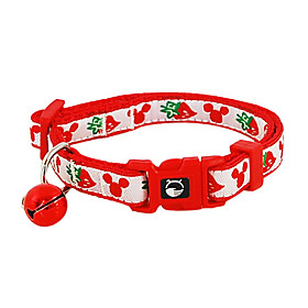 Strawberry Pattern Insert Button Collar with Little Bell for Dogs (Assorted Color)