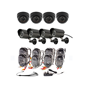 Day/Night Security Camera 8 Pack(4 Waterproof Outdoor Cameras   4 Indoor Cameras)
