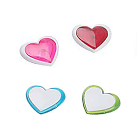 Heart Shaped Fridge Magnets Stickers (4-Pack)