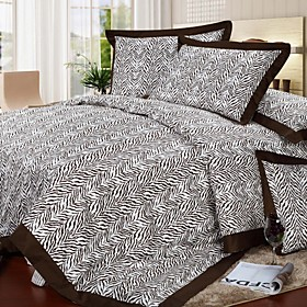 Zebra Pattern Full / Queen 4-Piece Duvet Cover Set