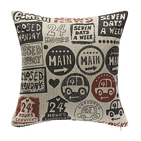 Cartoon Cotton Decorative Pillow Cover