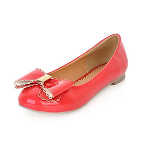 Patent Leather Flat Heel Flats With Bowknot Party / Evening Shoes(More Colors)