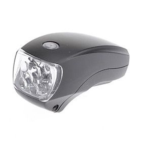 Black ABS Waterproof/5 LED/4 Flashing Mode Bicycle Head Light