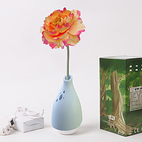 Refreshing Vase Anion Air Purifiers with African Daisy(Blue)