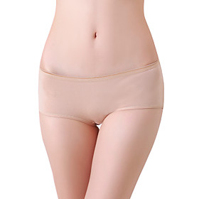 XZYD Almond Medium-waist Cotton Butt-lifting Panties