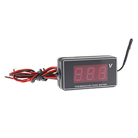 1.2 Inch LCD Digital Thermo and Voltage Meter for Vehicle Car