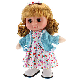 Singing and Walking Toy Blinking Lovely Girl (3xAA, Random Color)