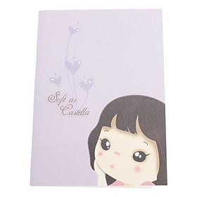 Lovely Girl Pattern Mini Notebook (Random Color)