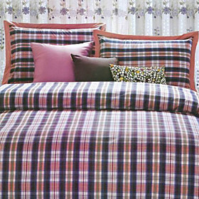 Copenhagen Plaid Twin / Queen / King 3-Piece Duvet Cover Set